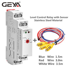 Free Shipping GEYA GRL8 Water Level Control Relay with Stainless Sensor AC/DC24V-240V Level Control Sensor cad50bdc dc24v tesys d series contactor control relay 5no 0nc