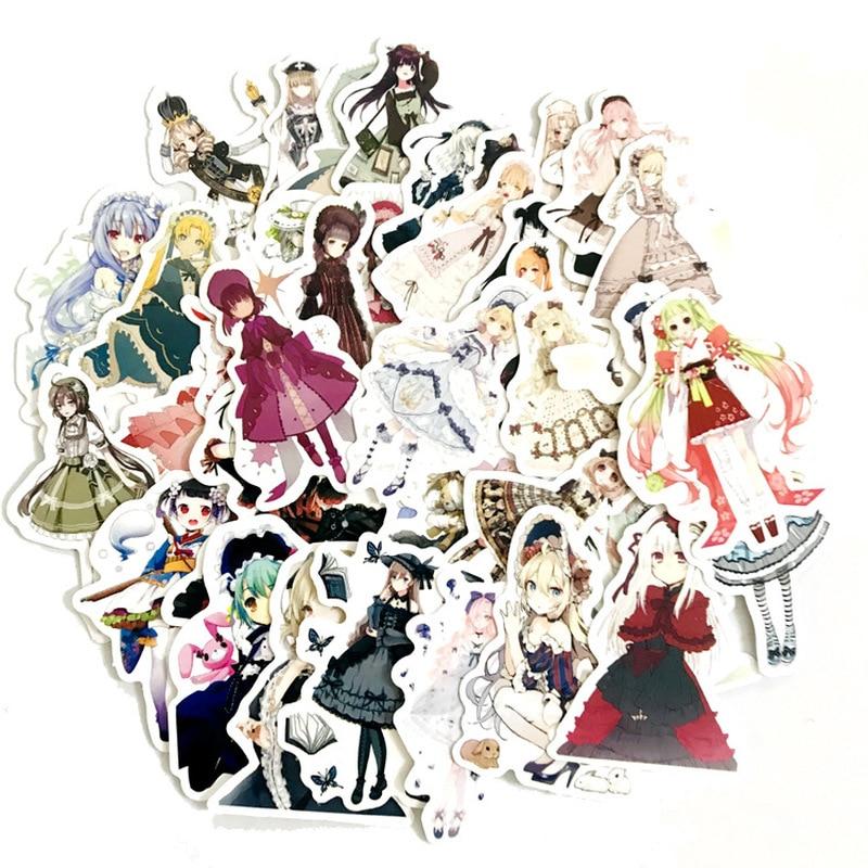 42 Pcs Lolita Teenage Pretty Girl Decoration Stationery Sticker Diy Diary Scrapbooking Label Sticker Stationery 2019
