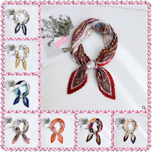 New Pleated Small Square Scarf Women 's Fashion All -match Decorative Professional Korean -Style Neckerchief
