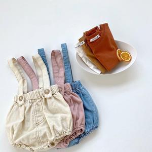 Комплект детской одежды, летняя футболка для девочек + джинсы для мальчиков, Комбинезоны на бретельках для детей, комплекты одежды из 2 предметов для новорожденных, комплекты одежды для маленьких мальчиков