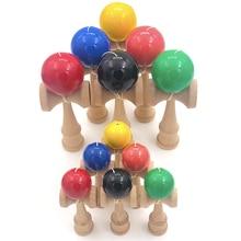 Профессиональная деревянная игрушка Kendama, одноцветная, для улицы, умелый шар для жонглирования, игрушка gendama, мяч для снятия стресса для обучения детей