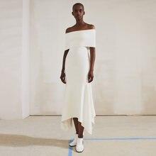 Adyce 2021 Новое Летнее белое Бандажное платье с открытыми плечами