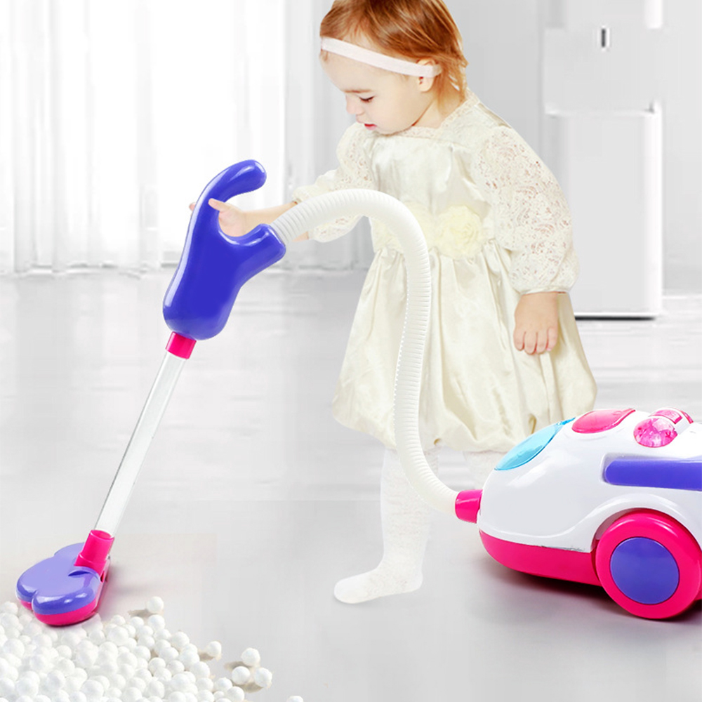 Vacuum Cleaner Toy Pretend Play Toys Vacuum Cleaner Toy For Kids Housekeeping Cleaning Trolley Play Set Mini Clean Up Cart