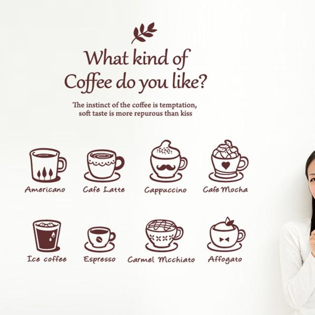 Kawiarnia naklejka kawiarnie lód kremowy chleb ciasto ściana kuchenna sztuka zdejmowana naklejka naklejka herbata mleczna naklejka