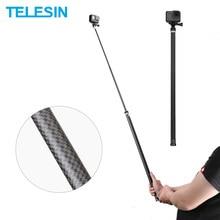 "TELESIN 106 ""ยาวคาร์บอนไฟเบอร์Handheld Selfie Stick MonopodเสาสำหรับGoPro Hero 9 8 7 6 5 4 Xiaomi YI Osmo Action"