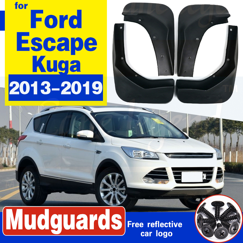 Rubber Moulded Universal Fit Car MUDFLAPS Mud Flaps Fits FORD Kuga