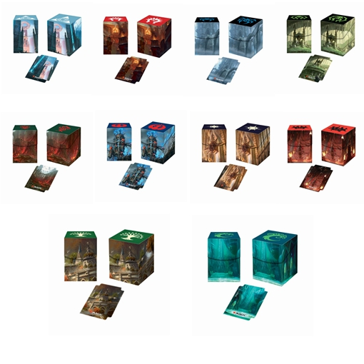 Ultra Pro Deck Box Ravnica Ten Guilds Board Games TCG Cards Deck Case For Magical The Cards MGT/Pkm/YGO/Gathering Games