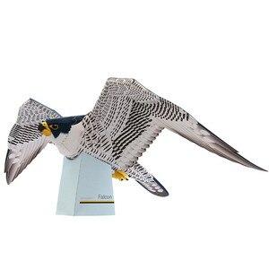 Falcon Hawk, Орел, птица, складная, режущая, мини, милая, 3D бумажная модель, бумага, ремесло, летающее животное, фигурка, сделай сам, дети, взрослые, р...