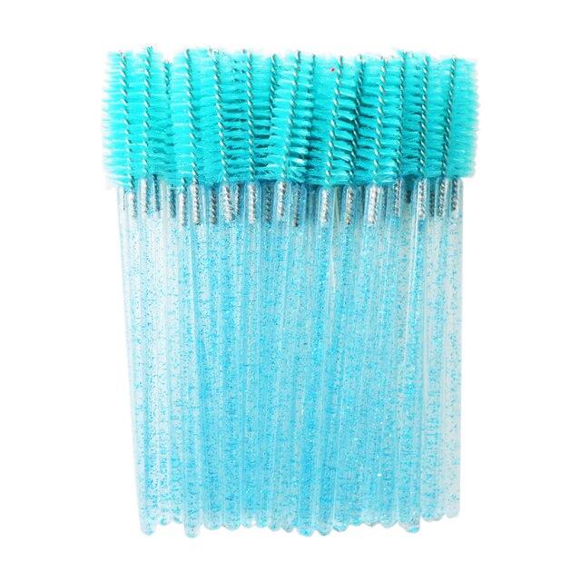 QSTY eyelash brush makeup brushes 50pcs individual disposable mascara applicator comb wand lash makeup brushes tools 6colors 2
