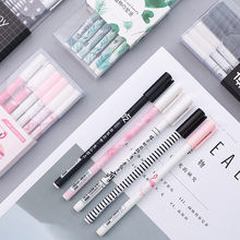 3 Pcs/Lot Green Plants Flamingo Sakura Gel Pen Cute 0.5mm Black Ink Signature Pen Escolar Papelaria School Stationery Supplies(China)
