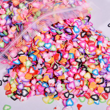 1000pcs Heart Fimo Slices Polymer Clay perfect for Slime charms slime supplies fluffy clear clay char butter