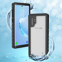 For Samsung Galaxy Note 10 Plus Case IP68 Waterproof 360 Degree Protection Shockproof Shell for Underwater