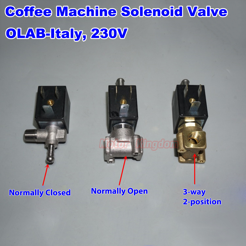 OLAB Italy SERIE 6000-9000 AC 230V G1/8' Brass Coffee Maker Machine Steam Hot Water Normally Closed  Open Solenoid Valve