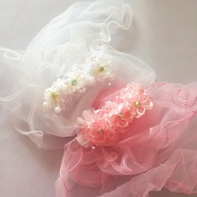 1 Pcs/lot Flower Veil Hairpins Wedding Dress Hair Accessories For Children Girl Clip Barrette Headwear Sweet