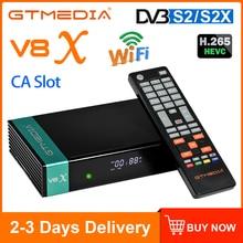DVB-S2-цифра спутниковый телевизионный ресивер GTMEDIA V8X H.265 DVB S2 S2X здания Wi-Fi разъем CA Scart Декодер каналов кабельного телевидения GT медиа V7S 2X Подд...