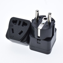 Wall Electrical Connector with Safety Shutter Universal Travel Adapter European Plug Appliances International New Power Socket