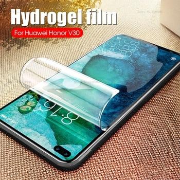 Перейти на Алиэкспресс и купить Гидрогелевая пленка для Huawei Honor 20 Pro 20 S V30 V20 View 20 30 View30 Pro Honor20 защитная пленка против царапин не стекло