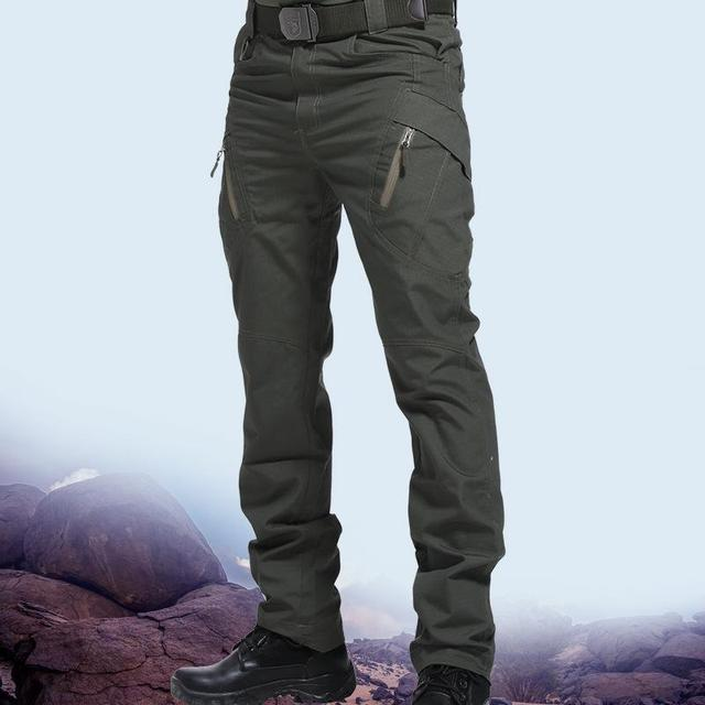 Men's Tactical Pants Multi Pocket Elastic Military Trousers Male Casual Autumn Spring Cargo Pants For Men Slim Fit 5XL