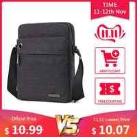 TINYAT torba męska szara torba na ramię na 9.7 'pad torba studencka wodoodporna biznesowa torba podróżna na ramię płócienna torba na co dzień