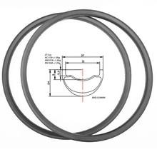 Графен 27,5 er карбоновые диски mtb 37x24 мм симметрия TR 390 г велосипедные диски mtb диски Аро mtb rodas mtb 650b ERD 559 мм