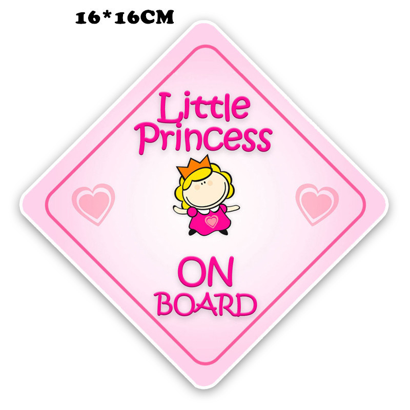 BABY ON BOARD Car Styling Reflective Sticker Lovely Girl