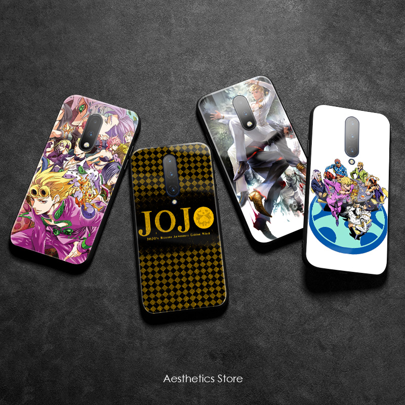 JOJO Part 5 Golden Wind Vento Aureo Tempered Glass Soft Silicone Phone Case Cover Smooth Shell for OnePlus 6 6T 7 7T Pro image