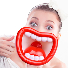 Novelty Toys Big lip megaphone Loudspeaker Multi Voice Changer Creative Funny Voice-changing Toys Voice Modifiers For Kids Gift стоимость