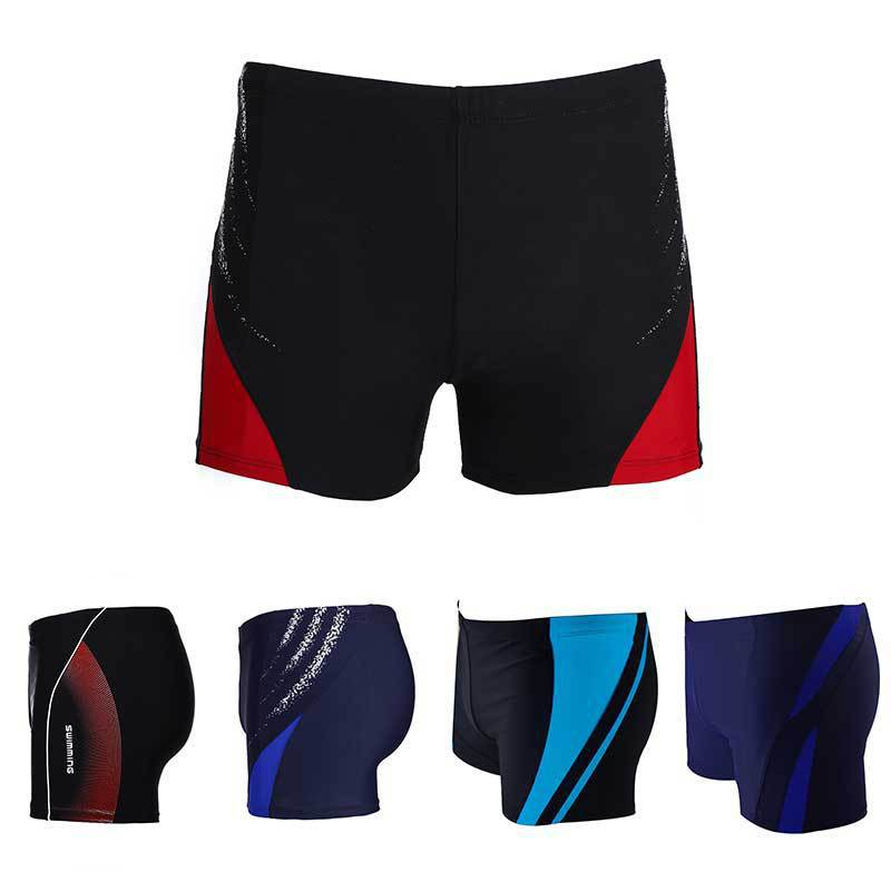 Hao Zhi Lang New Style Adult Men Boxer Europe And America Beach Shorts Swimming Trunks Plus-sized Quick-Dry Swimming Trunks A Ge