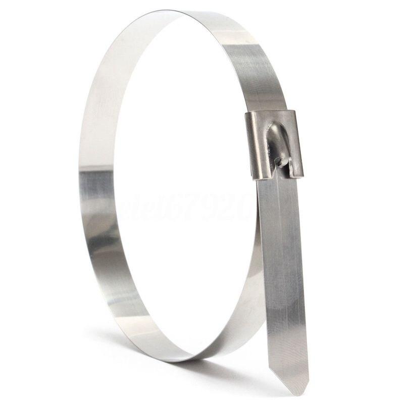 Forte in acciaio inox Marine Grade In Metallo Fascette Zip Tie Wraps di scarico x10