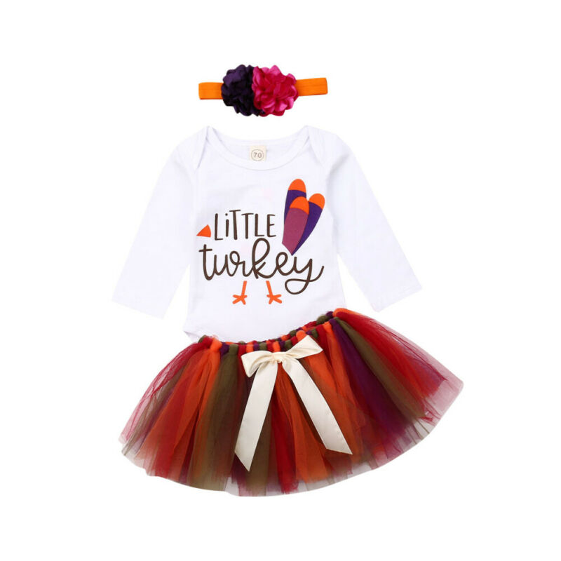 FAROOT Sunflower Romper Dress Baby Girls Lace Tulle Skirt Toddler Birthday Thanksgiving Outfit Clothing
