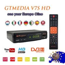 New stable HD Smart TV Satellite receiver Gtmedia V7S DVB-S2 + 1 year europe cccam cline server + USB WIFI TV satellite receiver цена в Москве и Питере
