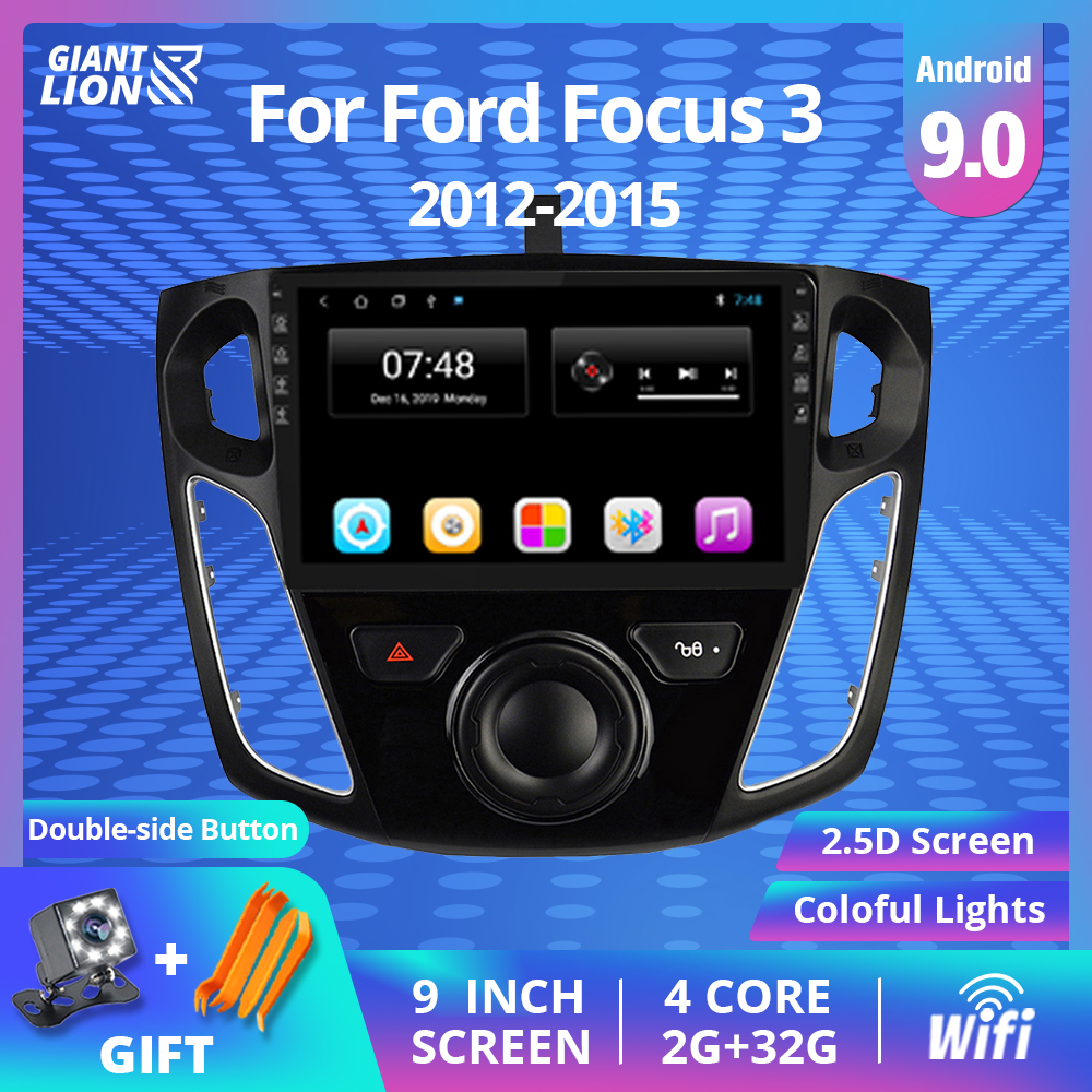 2Din Android Car Radio Cassette Recorder Head Unit Wifi Car Multimedia Video Player <font><b>Navigation</b></font> GPS For <font><b>Ford</b></font> <font><b>Focus</b></font> 3 2012-2015 image