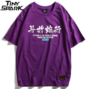 Image 2 - Camiseta de Hip Hop para hombres, camisetas de Charaters chinos de serpiente, ropa de calle Harajuku, camiseta de primavera y verano, camisetas de manga corta de algodón 2020