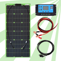 Green Flexible Kit Solar System for Home 12v 24v 100w Solar Energy Panels Systems for Camping Car Solar Systems Solar Panel Kit