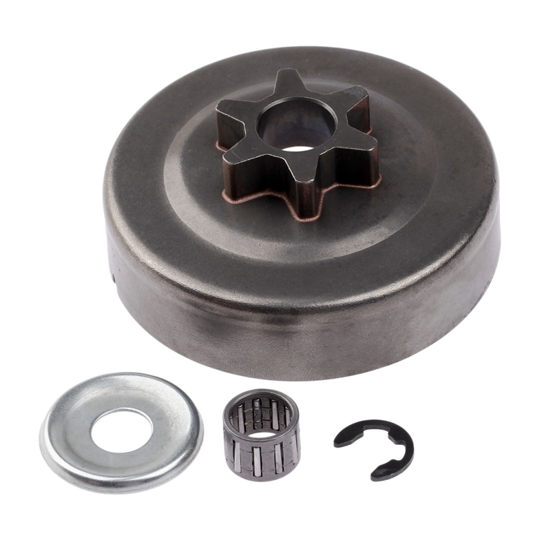 ABSF 3/8 6T Clutch Drum Sprocket Washer E-Clip Kit For Stihl Chainsaw 017 018 021 023 025 Ms170 Ms180 Ms210 Ms230 Ms250 1123
