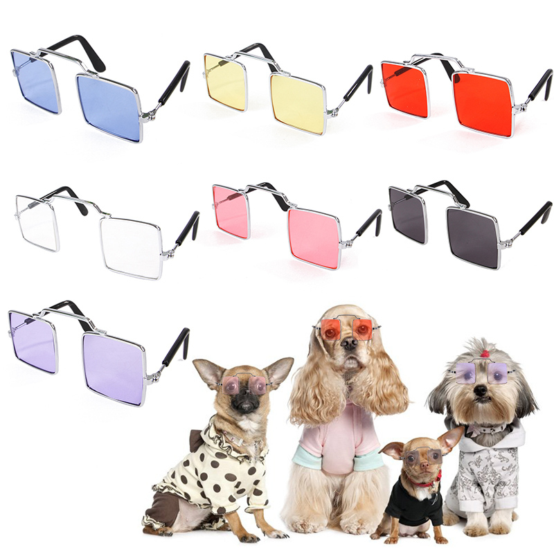 Lovely Metal Glasses Cat font b Pet b font Products Eye wear Sunglasses For Small Dog