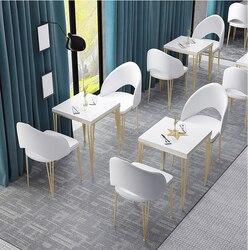 Milch tee bar lange bar hohe fuß tisch einfache haushalts wand schließen schmalen tisch Nordic eisen bar tisch stuhl kombination