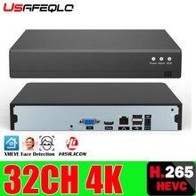 16CH 32CH * 4K ONVIF H.265/H.264 supporto 1 SATA NVR Network videoregistratore digitale Max 8TB XMEYE CMS con cavo P2P Cloud Mobile