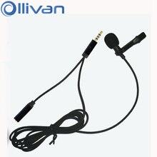 Lavalier – Microphone denregistrement à condensateur omnidirectionnel, pour téléphone portable et pc