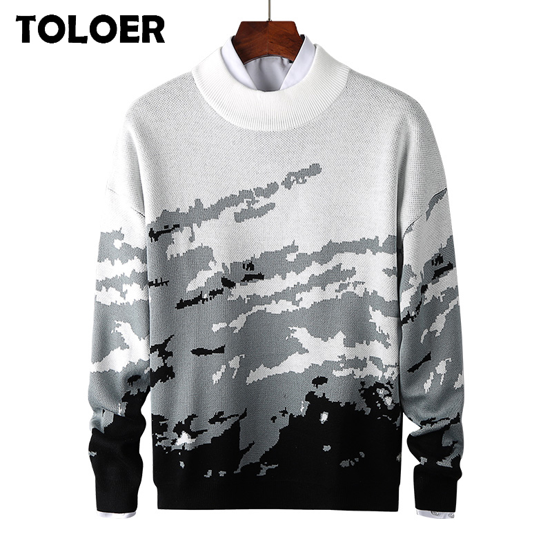 Mens Sweater 2020 Autumn New Round Collar Pullover Men Brand Clothing Knit Shirt Thick Slim fit Fashion Jumpers Knitwear Sweater