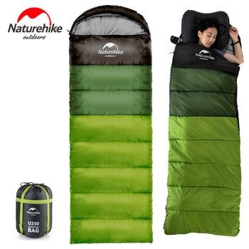 цены NatureHike Outdoor Camping Sleeping Bag Portable Ultralight Hiking Travel Sleeping Bag Splicing Waterproof Thermal Adult