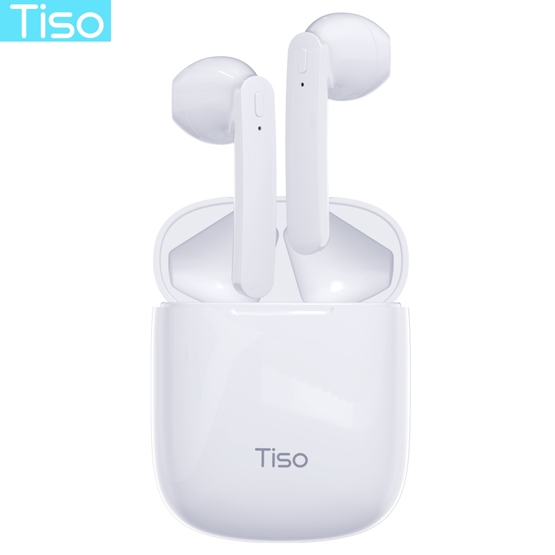 Tiso ix Bluetooth 5 0 earphones 6D true wireless stereo HD headphone sports TWS IPX5 waterproof headset with dual microphone
