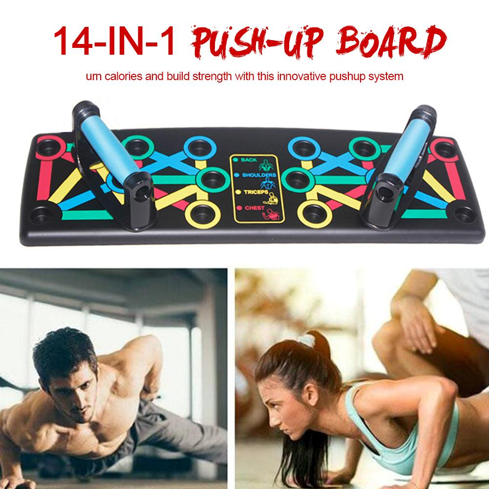 Push-Up Rack Board 14in1 Multi-function Body Building Fitness Exercise Tools Men Women Push-up Stands For GYM Body Training 4