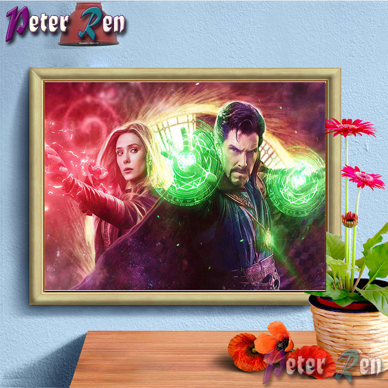 5d Witch and Genius Doctor Diamond Painting diamond Embroidery full Square/round Mosaic Picture Rhinestone Home Decoration