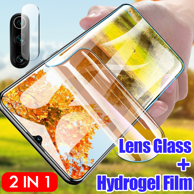 900D 2in1 Camera Lens Glass For Huawei P30 P20 Lite Pro Mate 30 20 Lite Front Screen Protector Soft Hydrogel Film For Huawei