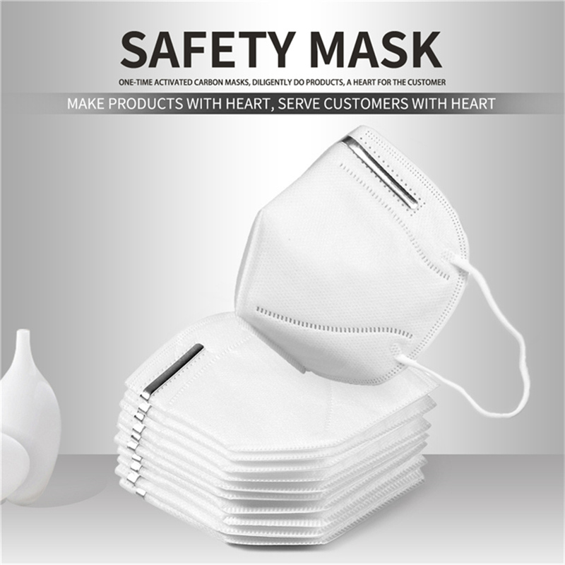 10Pcs FFP3 Masks Dustproof Breathable Droplets Bacterial Face Mask Respirator 95% Filtration KN95 Respirator Masks Reusable