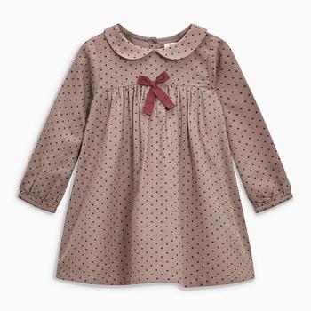 Little maven 2-7Years 2020 Autumn Wave Point Dresses For Girls Toddler Baby Girls Dress Children Kids Tops Dress Fall Clothing 1