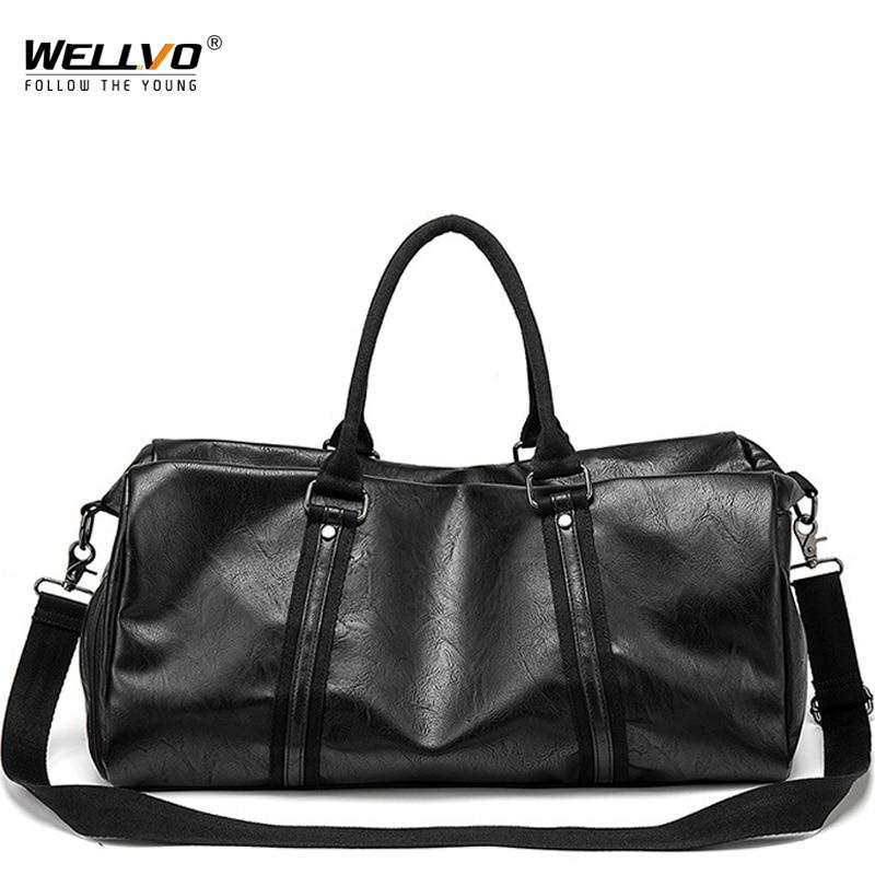 Men Handbag Leather Large Capacity Travel Bag Fashion Shoulder Bag Male Hand Duffle Tote Bag Casual Messenger Bags XA285ZC