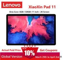 Almofada global de lenovo xiaoxin do firmware 11 polegada 2k tela lcd snapdragon octa núcleo 6gb 128gb tablet android 10
