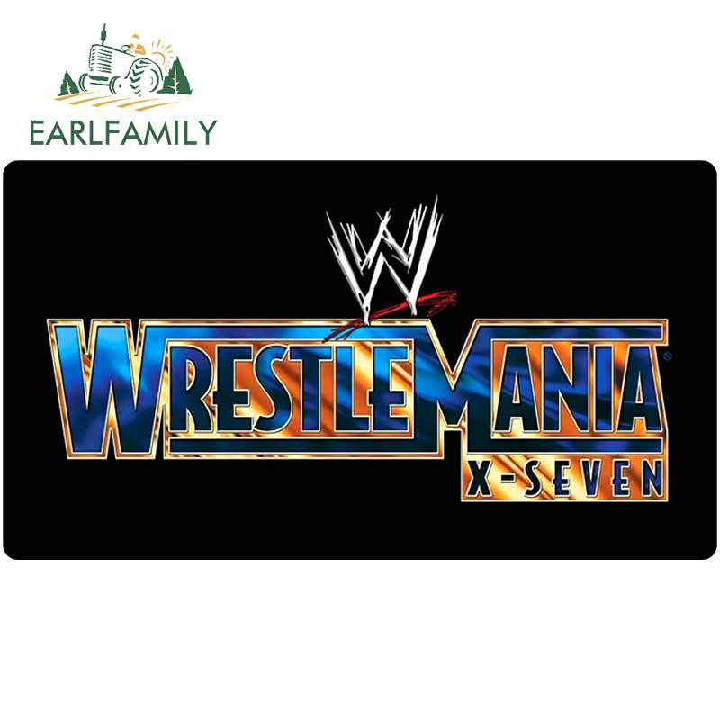 EARLFAMILY 13cm X 7.3cm For Wrestlemania Fine Decal Fashion Car Stickers Car Accessories Cartoon Graphics Scratch-Proof